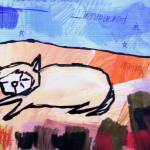 """sleeping desert cat"" by davebloomfield"