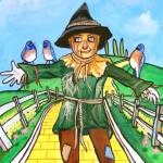 """THE SCARECROW WIZARD OF OZ PAINTING Gordon Bruce"" by GORDONBRUCEART"