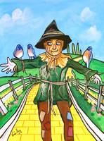 THE SCARECROW WIZARD OF OZ PAINTING Gordon Bruce