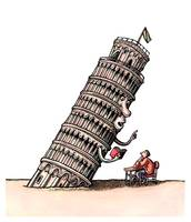 Leaning Tower Teaches Italian Language to Student