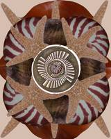 flower mandala brown