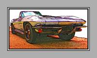 1966 Chevrolet Corvette Stingray Poster - White