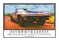 1966 Chevrolet Corvette Stingray Poster - Sky