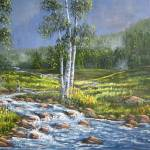 """""""Birch Meadow"""" by DavisGalleries"""