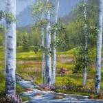 """""""Mountain Birch Stream"""" by DavisGalleries"""