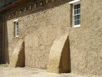 Adobe Building -church grounds in Ojo Caliente, Ne