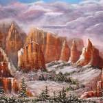 """Snow Over Sedona"" by DavisGalleries"