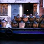 """Vino Wine Boat - Venice, Italy"" by Travelerscout"
