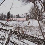 """PIttsford Winter Scene with Colored Pencil Effect"" by PittsfordPIcs"