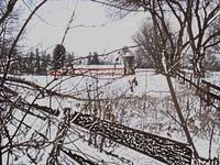 PIttsford Winter Scene with Colored Pencil Effect