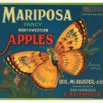 """Mariposa Apples Butterfly Fruit Crate Label"" by lifeoverhere"