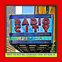 Radio City Music Hall Sign - Red Border