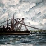 """shrimp boat 2 painting"" by derekmccrea"