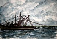 shrimp boat 2 painting