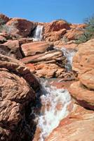 Waterfall in Springtime Near Gunlock Reservioir