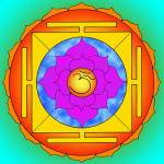 """Om Lotus Yantra"" by yoga-designs"