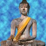 """Meditating Stone Buddha"" by yoga-designs"