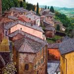 """montepulciano_rooftops"" by gbensonart"