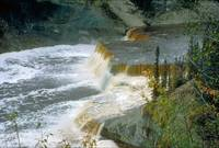Louise Falls at Hay River in Northwest Territories