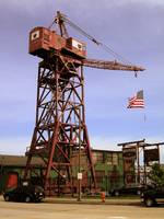 Museum of Industry Crane and Flag