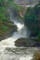 Murchison Falls on Nile River in Uganda Africa