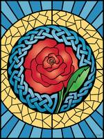 Celtic Rose Stained Glass