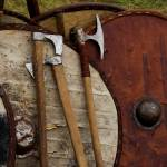 """Viking Shields and Axes"" by kirahagen"