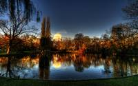 morning light in the Stadtpark, vienna, austria