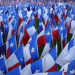 """Texas Flags create Memorial Day display"" by Philippa"