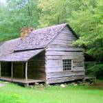 """Historic Log Cabin in Tennessee"" by Philippa"