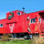 """""""Red Christmas Caboose"""" by doncon402"""
