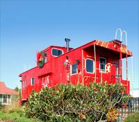 Red Christmas Caboose