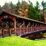 """Covered Bridge, watercolor"" by colormyworld"
