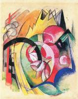 Colored flowers by Franz Marc