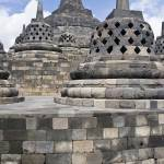 """Borobudur stupa and temple complex"" by KeithKelly"