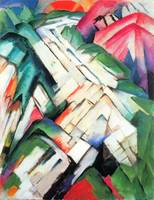 Mountains - landscape by Franz Marc