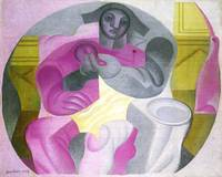 Sitting Harlequan by Juan Gris