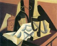 Still Life with a white tablecloth by Juan Gris