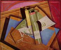 Still Life with Bordeau Wine by Juan Gris