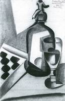 Still Life with Siphon by Juan Gris