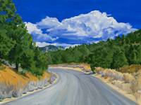 Western Landscape: Road To Sequoia National Forest