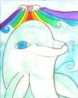 Dolphin Rainbow Love