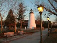 CONCORD POINT LIGHTHOUSE & LAMPOST