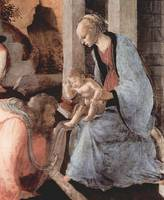 Adoration of the Holy three Kings, detail