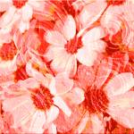 """Red Floral Abstract"" by Sari_McNamee"