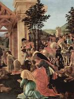 Adoration of the kings, detail