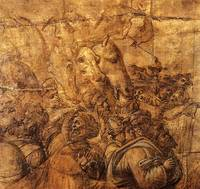 Adoration of the three magi, fragment of a draft