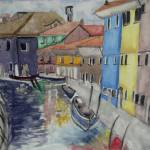 """Colorful Watercolor Canal"" by magnoliadorn"
