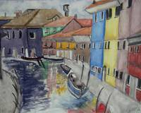 Colorful Watercolor Canal
