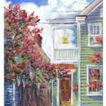 """Three Little Birds, Charleston SC Single House, An"" by debereves"